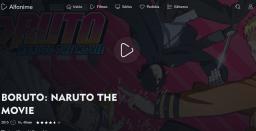 Print de tela do Portal de streaming Alfanime