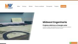 Print de tela do Website Midwest Engenharia
